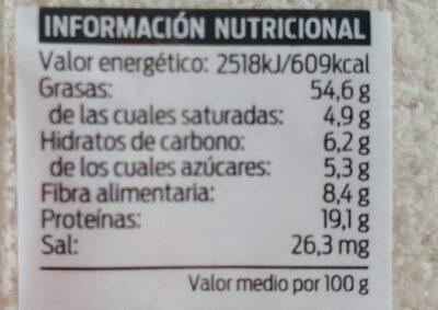 Almendras crudas molidas - Informations nutritionnelles - fr