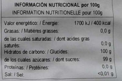 Bonbons durs d'anis - Nutrition facts - fr
