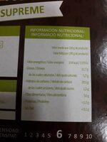 Cápsulas de cafe - Voedingswaarden - es