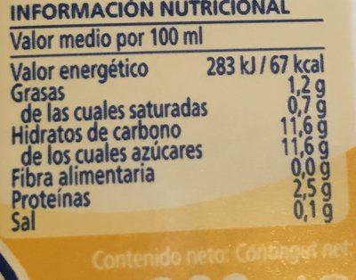 Batido sabor vainilla - Informations nutritionnelles - fr