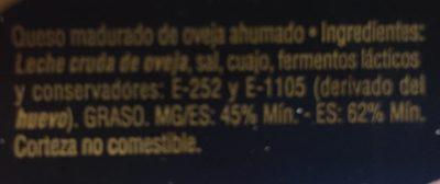 Queso de Oveja Ahumado - Ingredientes