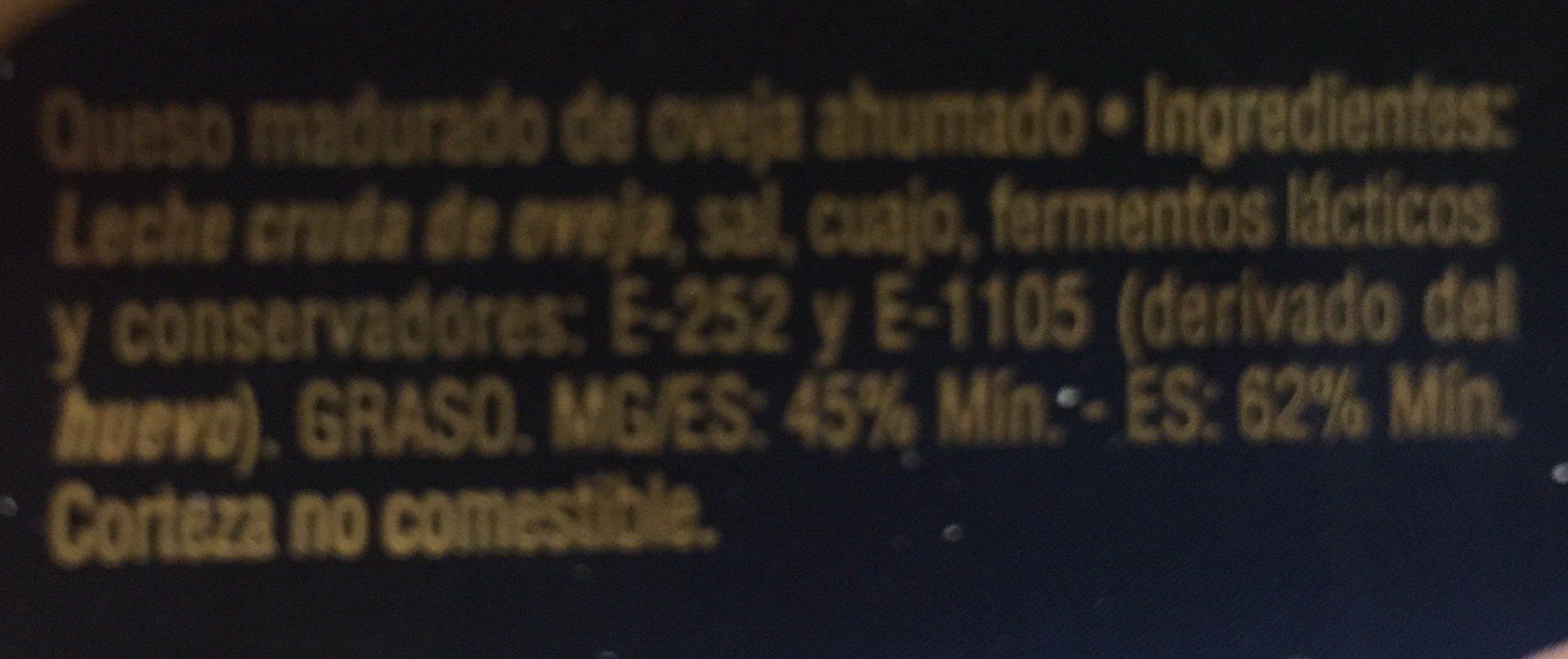 Queso de Oveja Ahumado - Ingredients