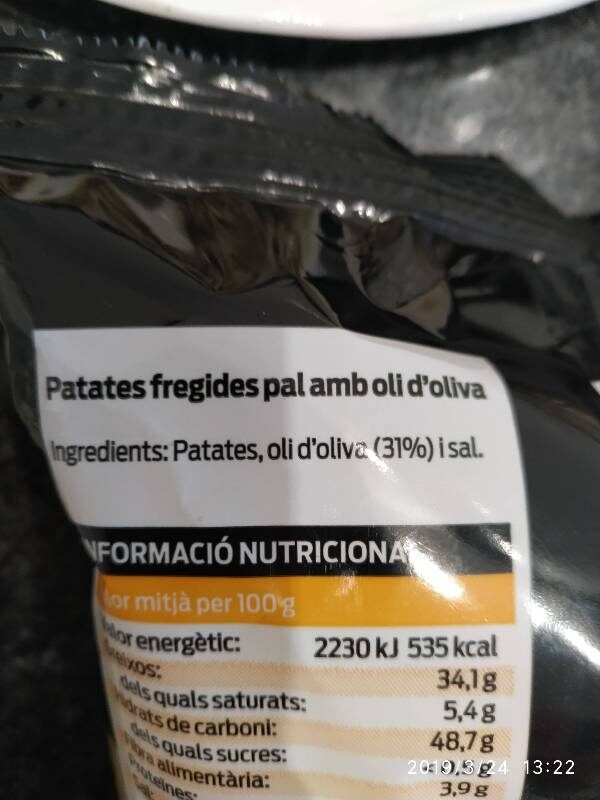 Patatas fritas - Ingredientes - es