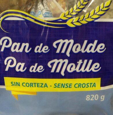 Pan de molde sin corteza - Produit