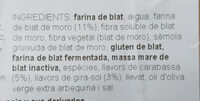 Pan connmaíz, semillas de calabaza y girasol - Ingredients