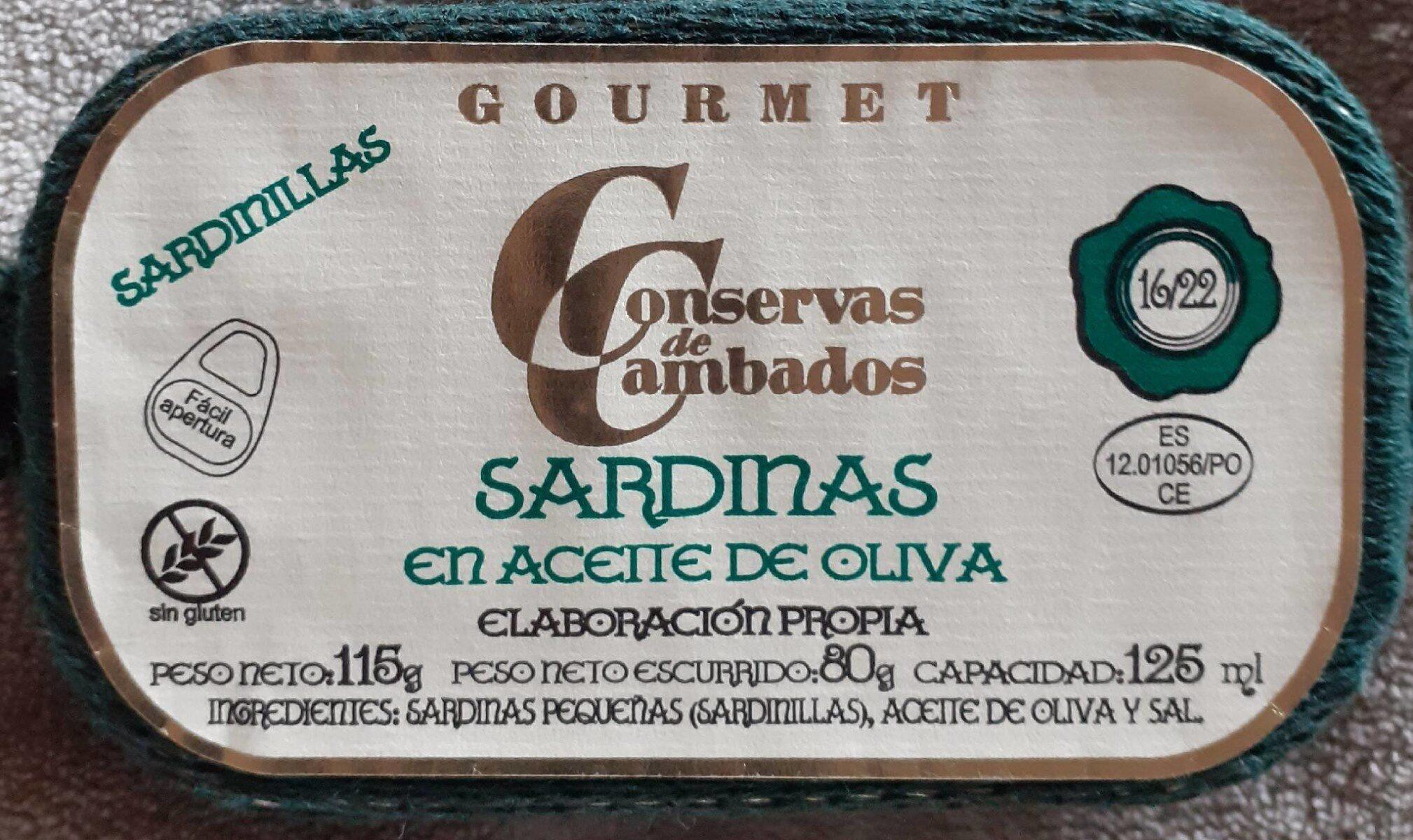 Sardinas en aceite de oliva Gormet - Producto - en
