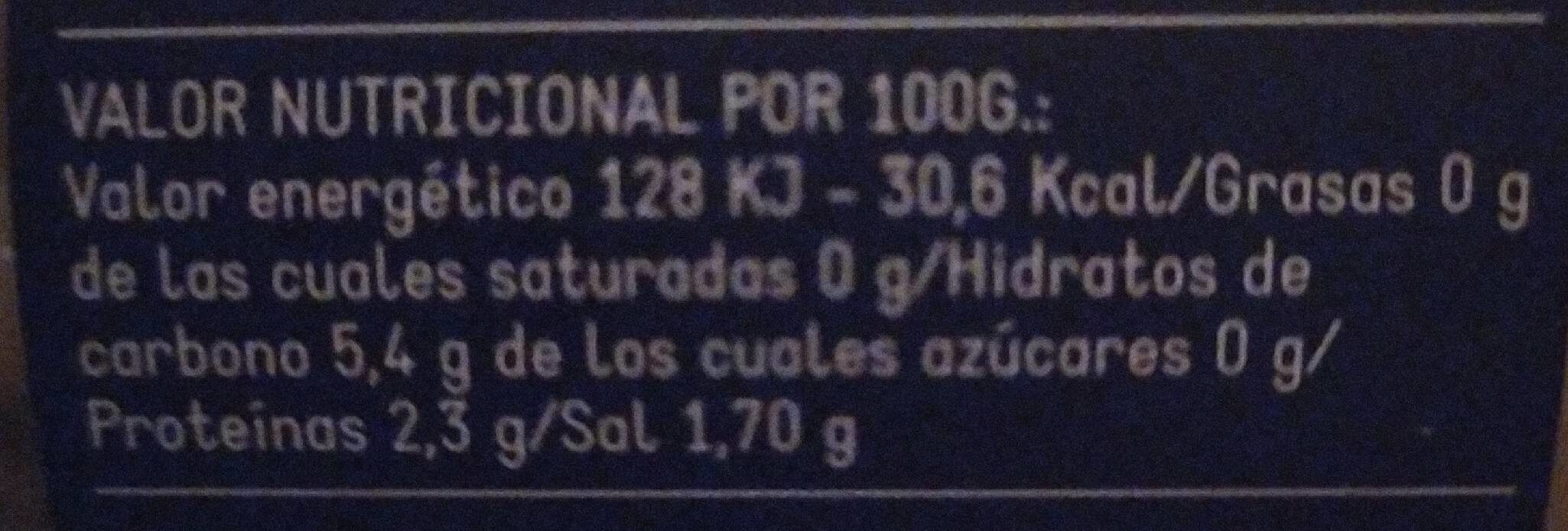 Alubia verde primera - Nutrition facts