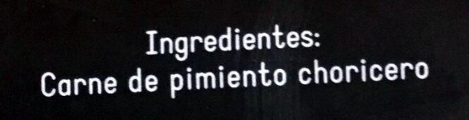 Carne de pimiento choricero - Ingrédients - es