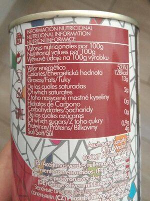 Cocktail Barbacoa - Información nutricional - es