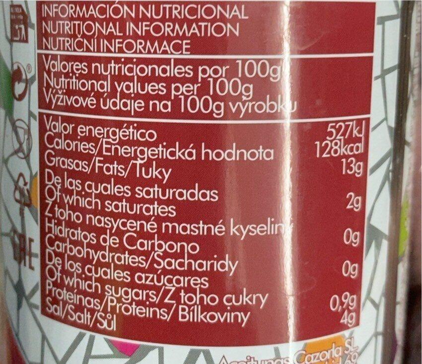 Cocktail Barbacoa - Informations nutritionnelles - es