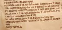 Pain Grillé Ail Et Persil Argente - Ingrediënten