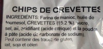 Chips de crevettes Snacks - Ingredients