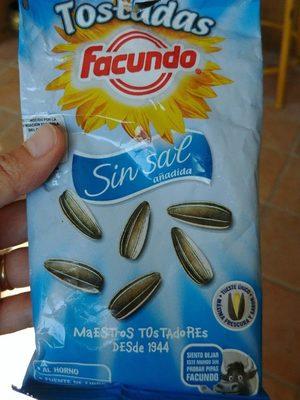 Facundo Pipas Tostadas Sin Sal - Producte - fr