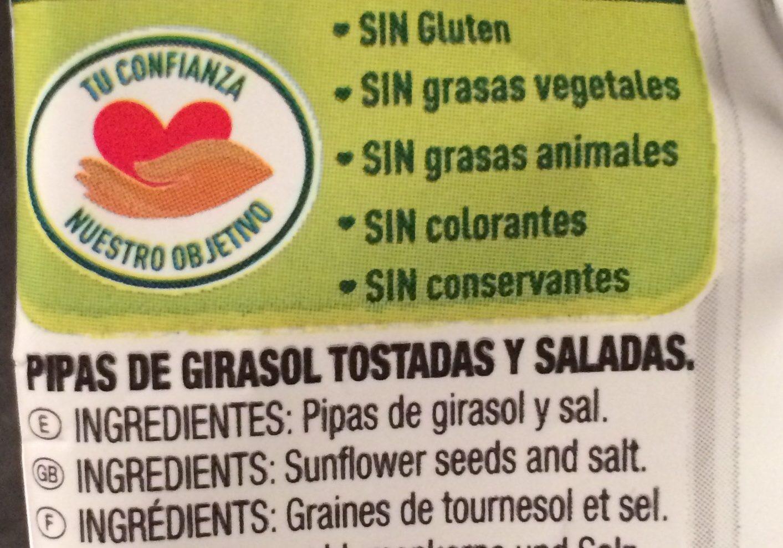 Pipas blanquillas - Ingredientes