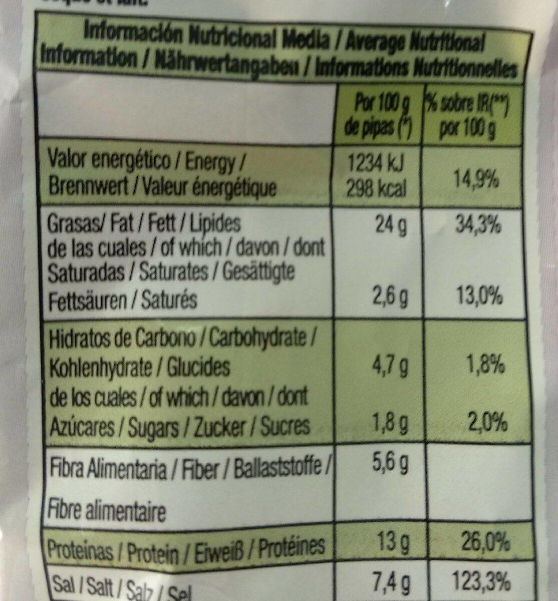 Pipas facundo a la sal rosa del himalaya - Nutrition facts