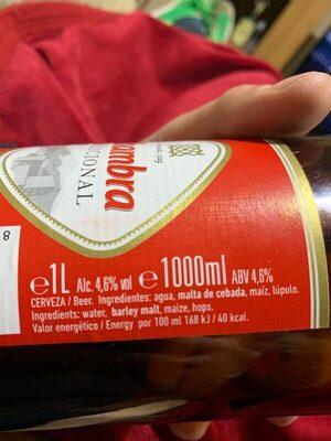Cerveza - Ingredients - es