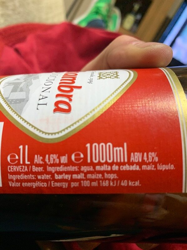 Cerveza - Informació nutricional - es