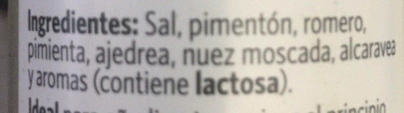 Carne sazonador - Ingredients - es