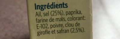 Sazonador para paella con azafrán sin gluten para - Ingrédients - fr