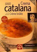 Crème catalane - sans gluten - Product - fr