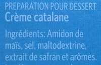 Crème catalane - sans gluten - Ingredients - fr