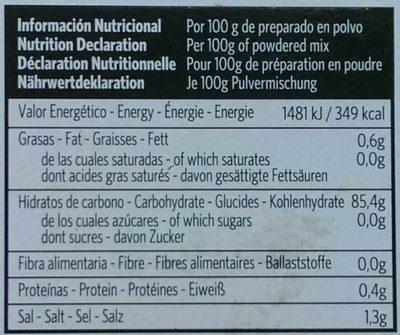 Crème catalane - sans gluten - Nutrition facts - fr