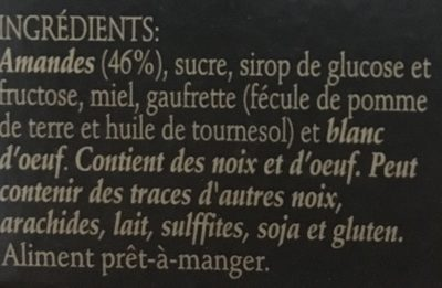 TURRÓN DURO - Ingredients