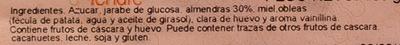 Nougat de Almendra - Ingredientes