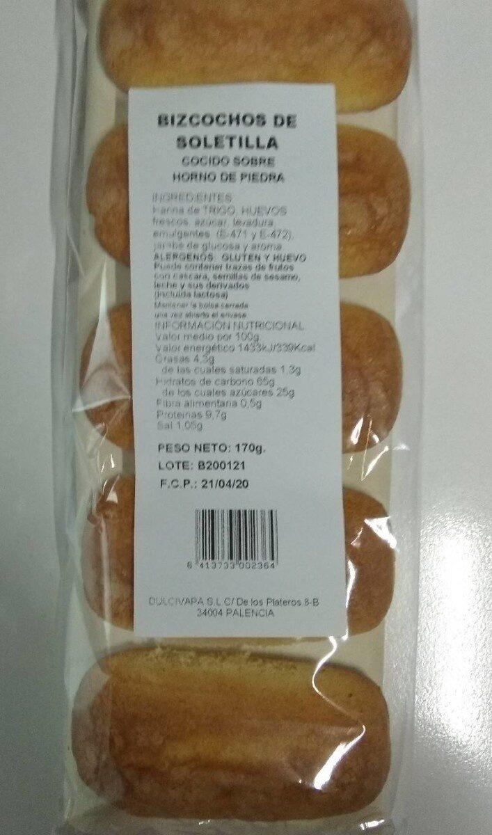 Bizcochos de Soletilla cocido sobre horno de piedra - Produit - es