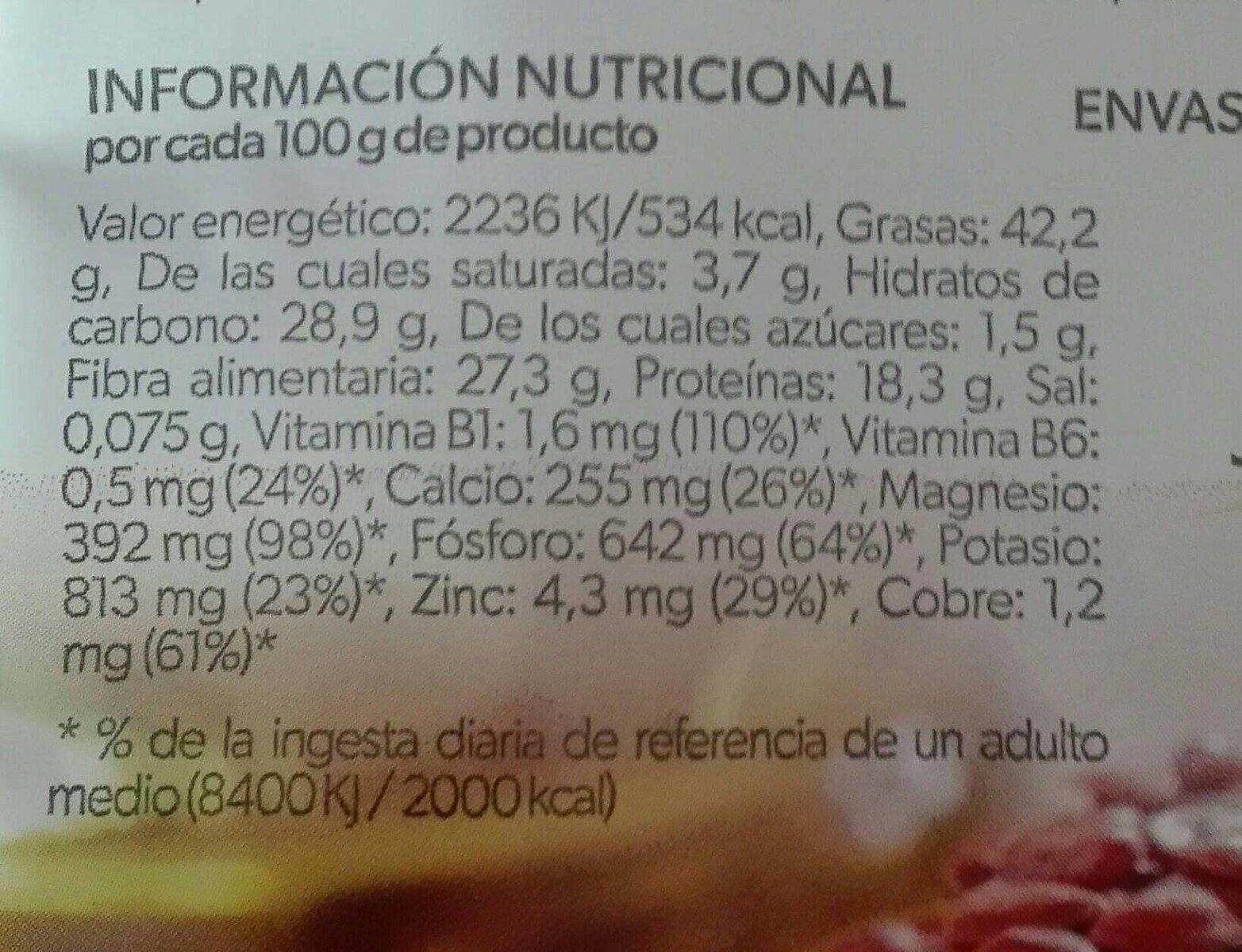 Lino marrón - Información nutricional - es