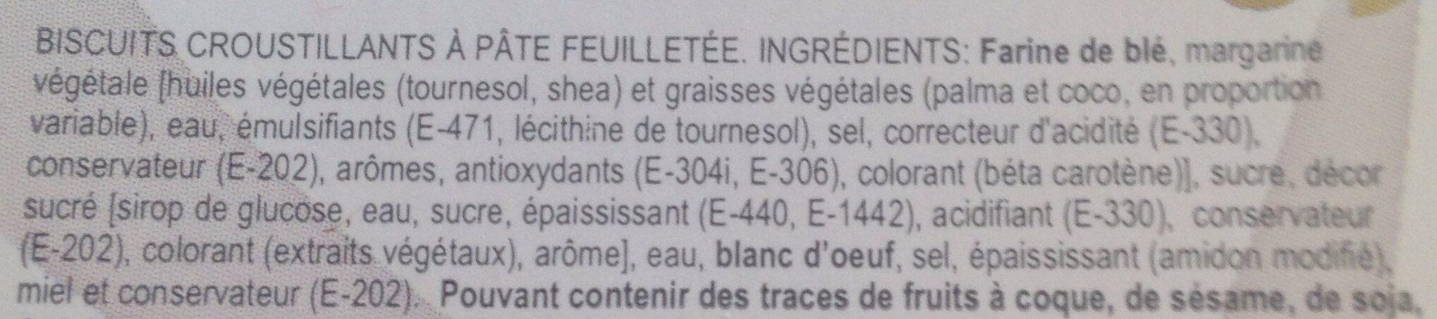 Arruabarrena Biscuits Sfogliatine le paquet de 200 g - Ingredients - fr