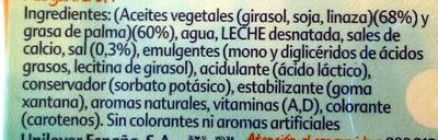 Tulipán - Ingredientes
