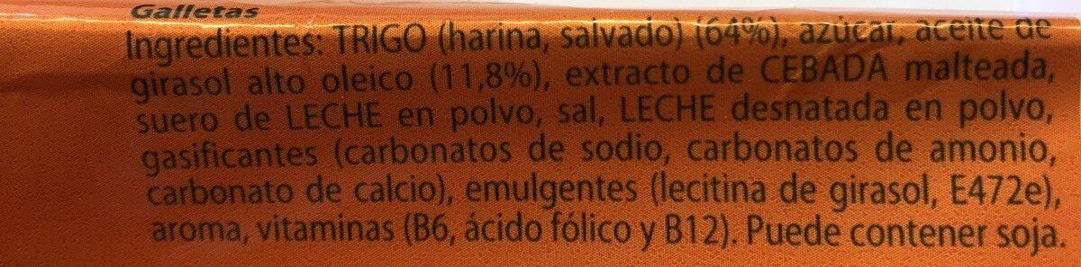 Galletas con fibra - Ingredienti - fr