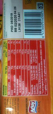 Galletas con fibra - Valori nutrizionali - fr