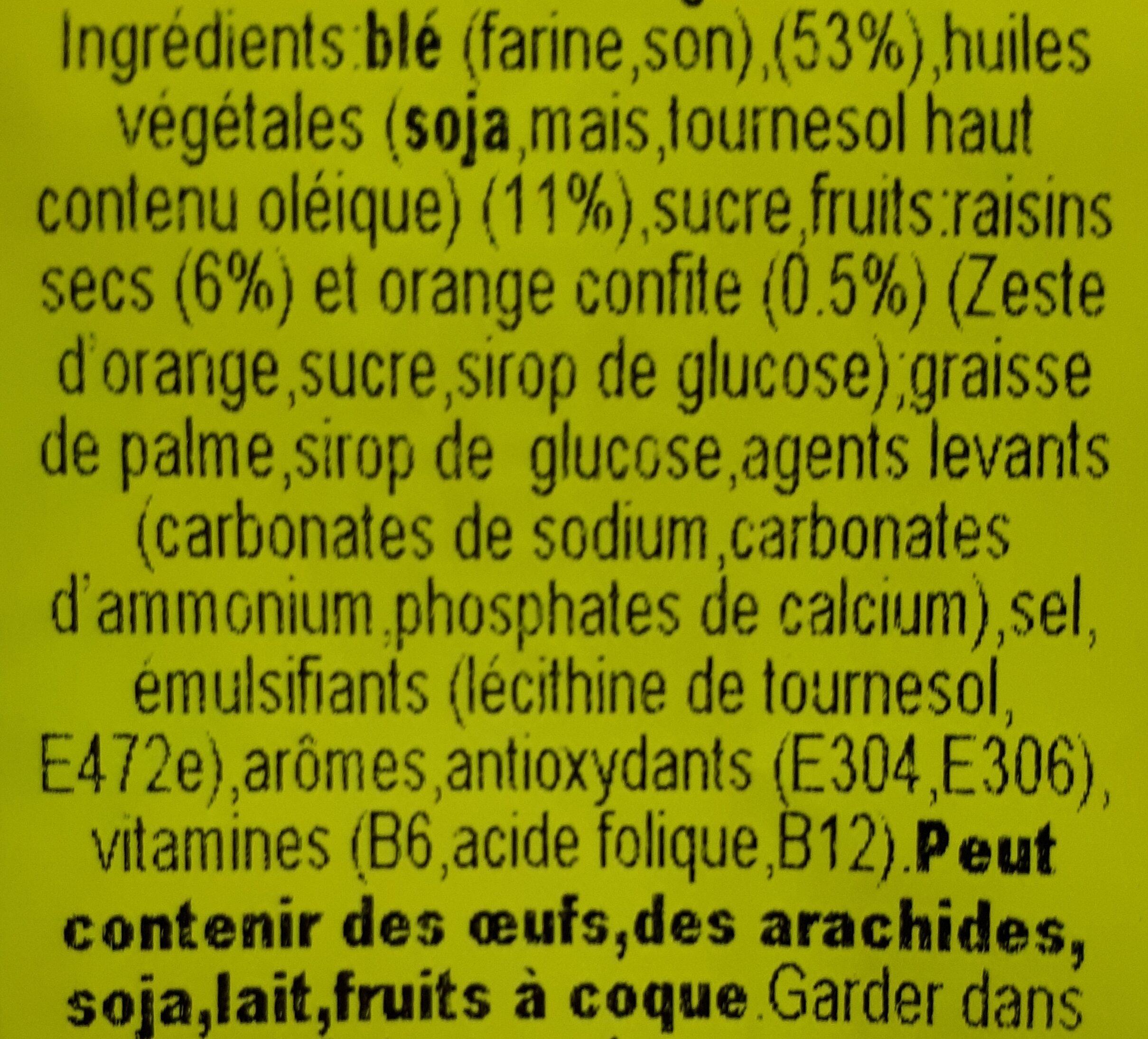 Galettas Fruta y Fibra - Ingredienti - fr