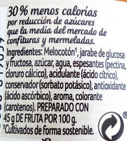 mermelada de melocotón - Ingredientes
