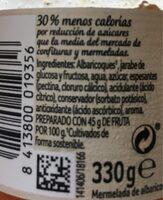 Mermelada De Albaricoque - Voedingswaarden - fr