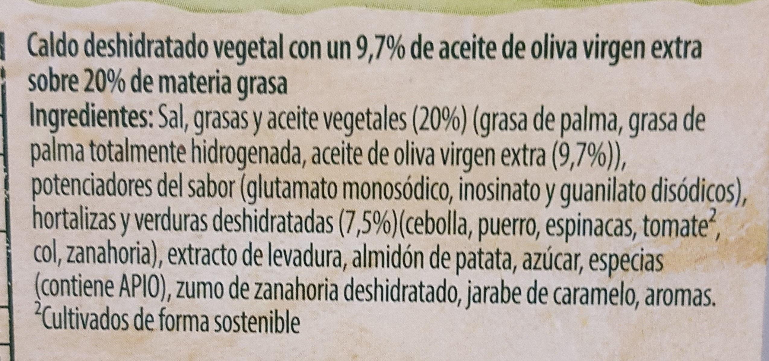 Caldo Vegetal - Ingrediënten - es