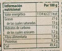 Caldo Vegetal - Informació nutricional