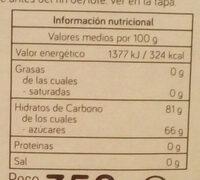 Miel - Información nutricional - es