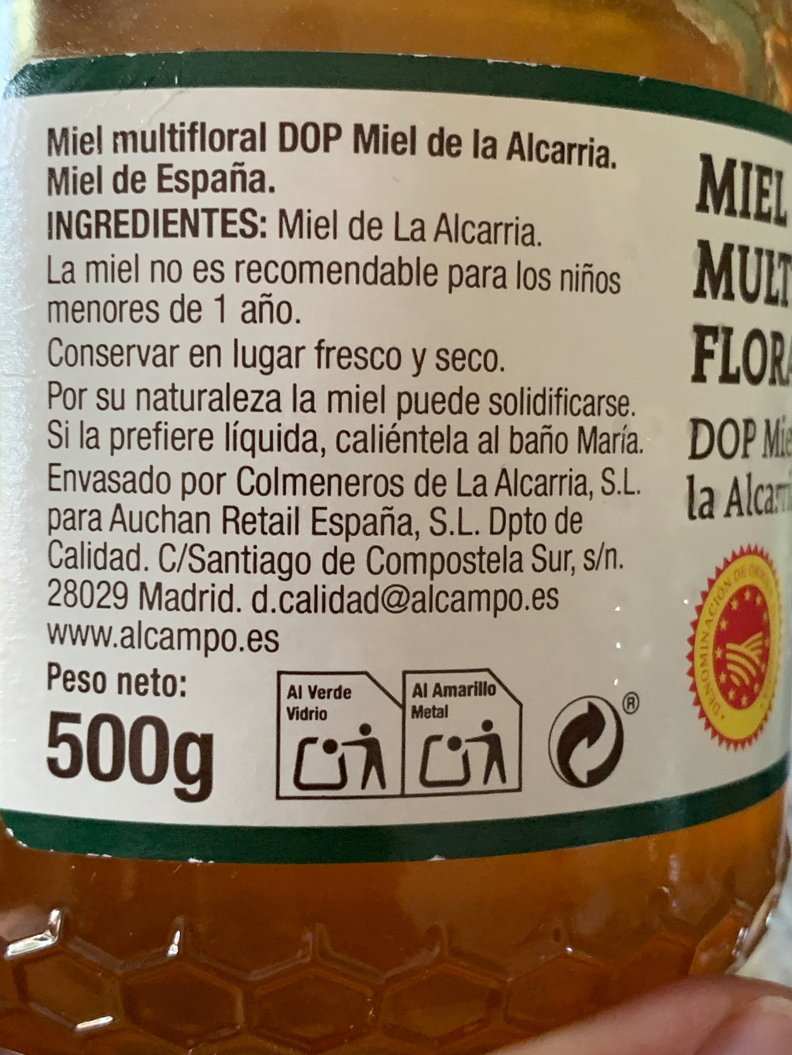 Miel multifloral - Ingredientes - es