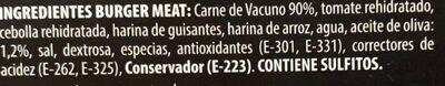 Hamburdehesa - Ingredientes - es