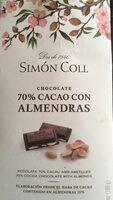 Chocolate cacao con almendras - Producto