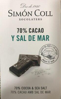 Chocolate 70 cacao y sal de mar - Producto