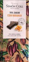 70% Cacao con Naranja - Producto