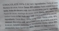99% cacao - Ingredients - fr
