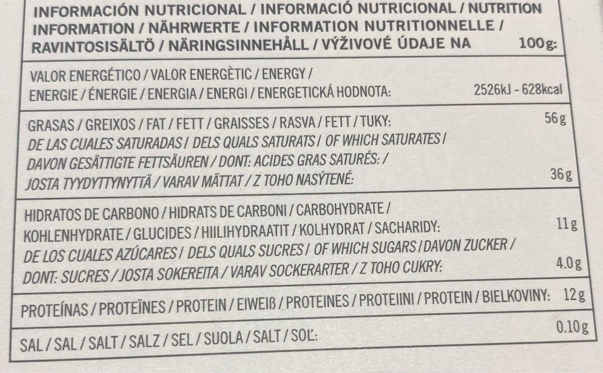 99% cacao - Informació nutricional - fr