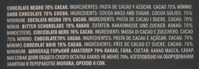 Grand Cru Ghana, Zartbitterschokolade 70 % - Ingredientes
