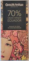 70% cacao origen Ecuador - Producto