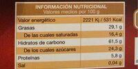 Galletas mantequilla - Nutrition facts - es